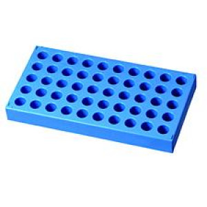 Vial Rack for 4mL, {15x45mm} Vial, PP 50 Holes w/Alpha Numeric Indexing