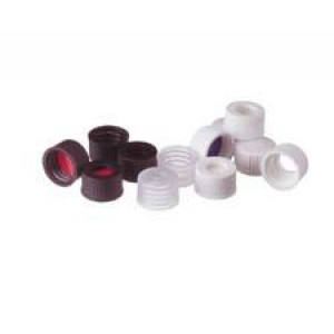 Assembled Cap & Septa PTFE/ Red Rubber (100/pk)