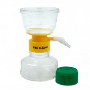 150mL Filter System, PES Filter Material, 0.22um, 50mm, Sterile (12/cs)