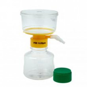 250mL Filter System, PES Filter Material, 0.22um, 75mm, Sterile (12/cs)