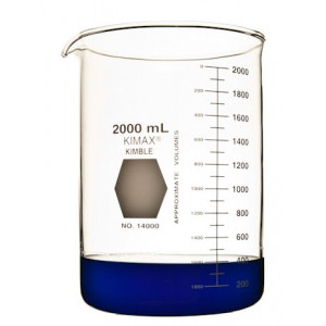 Kimax 2000mL Low Form Griffin Beaker, (8/cs)