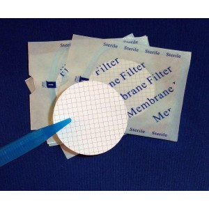 47mm Hydrophilic Mixed Cellulose Esters (MCE), 0.45um, Sterile, Gridded (3 x 200/pk = 600/cs)