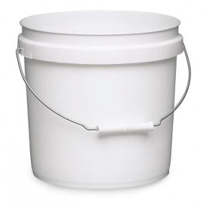 2 Gallon O/H White HDPE Pail UN embossed w/Handle (Each)