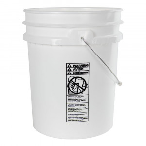 5 Gallon White PE Pail, UN rated (Each)