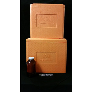 "15X12X13"" (16qt) SGS Cooler. Orange SGS Logo"