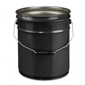 5 GALLON BLACK UNLINED STEEL PAIL (EACH)