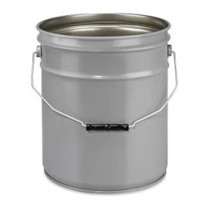 5 Gallon Gray 26 Gauge Unlined Steel Pail
