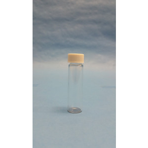 8mLClear Assembled Vial w/15-425 Solid Top PTFE Lined Cap, 100/pk