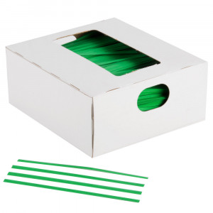 Green Twist Ties (2000/cs)