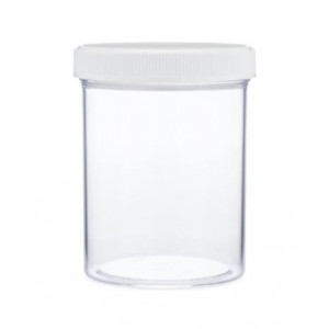 8oz Polystyrene Straight Sided Jar Assembled w/70-400 PP PolyVinyl Lined Cap (150/cs)