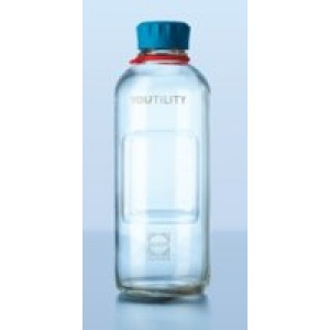 125mL Duran YOUTILITY Bottle, GL45 Clear Glass Complete (4cs)