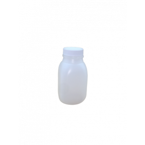 8oz Natural HDPE Juice Style Bottle Assembled w/38-400 F-217 Lined Cap (500/cs)