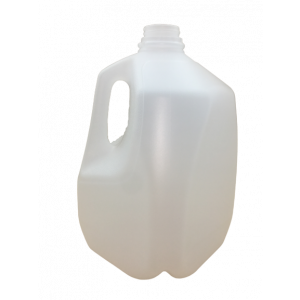 128oz (1 gallon) Natural HDPE Dairy Style Jug Assembled w/38-400 F-217 Lined Cap, Certified (24/cs)