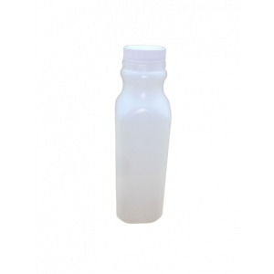 16oz Natural HDPE Juice Style Bottle Assembled w/38-400 F-217 Lined Cap (400/cs)