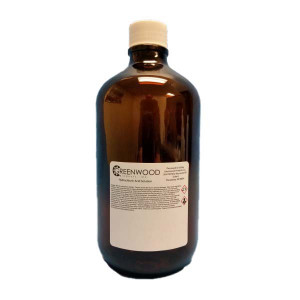 1 Liter Amber Boston Round Preserved w/1mL HCL,1;1 Ratio {Certified} (12/cs)