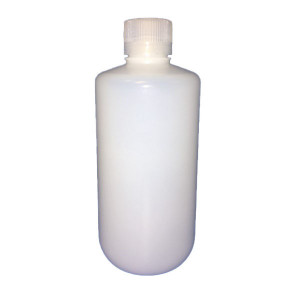 1000ml SMART Natural HDPE Leakproof Narrow Mouth Bottle w/38-430 Linerless Cap, Assembled Only (50/cs)