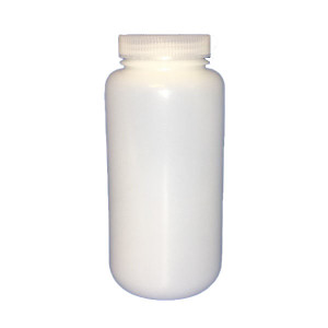 1000ml SMART Natural HDPE Leakproof Wide Mouth Bottle w/63-415 Linerless Cap, Certified, Labeled w/Lot# & Container #  (50/cs)