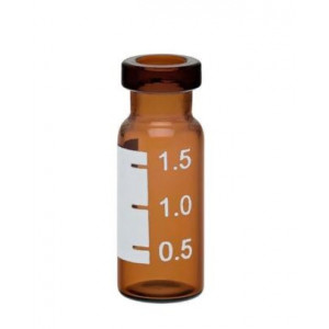 2mL Amber Crimp ID Vial w/Numbered Marking Patch {12x32mm} (100/pk)