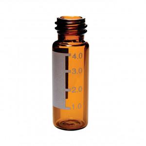 4mL Amber Threaded Vial, ID Patch, 15x45mm, 13-425 Finish (100/pk)