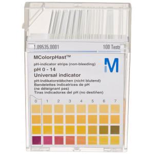 Colorphast pH Test Strips, 0-14 pH Range (6x100/pk)