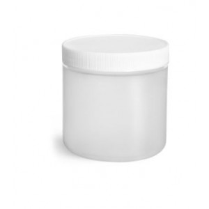 16oz Natural HDPE Straight Sided Jar Assembled w/89-400 F-217 Lined Cap, Certified (189/cs)