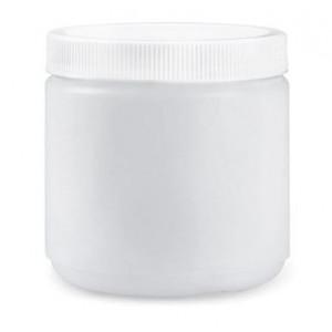 16oz Natural PP Straight Sided Jar Assembled w/89-400 F-217 Lined Cap (180/cs)