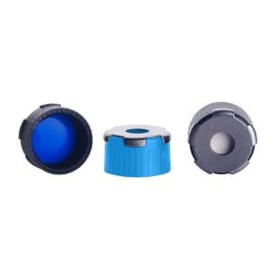 "18 MM BlueMAG PP CAP White Silicone /Blue PTFE; 0.060"" (100pk)"