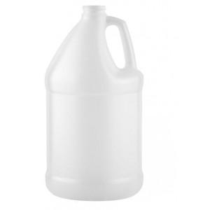 128oz (1 gallon) Natural HDPE Bleach Style Jug Assembled w/38-400 F-217 Lined Cap, Certified (24/cs)