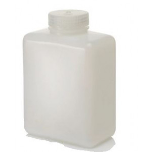 1000mL Rectangular HDPE Bottle, 53mm PP Screw Thread Closure (24/cs)