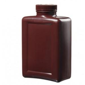 2000mL Rectangular Amber HDPE Bottle, 63mm Amber PP Screw Thread Closure (12/cs)