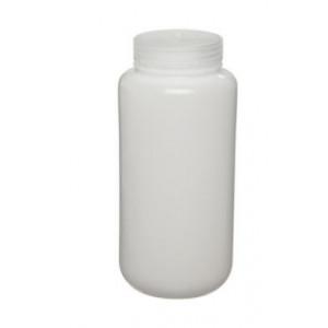 1000mL Wide Mouth HDPE Bottle, 63mm PP Screw Thread Closure {Lab Grade} (24/cs)