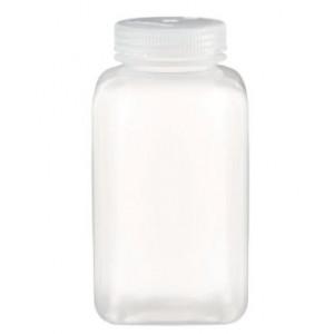 1000mL Square Wide Mouth PPCO Bottle, 63-415 PP Screw Thread Closure {Lab Grade} (50/cs)