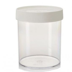 1000mL Wide Mouth Polycarbonate Straight Sided Jar, 120mm PP Screw Thread Closure (16/cs)