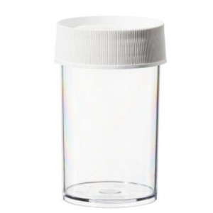250mL Wide Mouth PPCO Straight Sided Jar, 70mm PP Screw Thread Closure (36/cs)