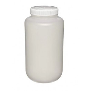 4L Large Wide Mouth HDPE Bottle, 100-415 PP Screw Thread Closure (6/cs)