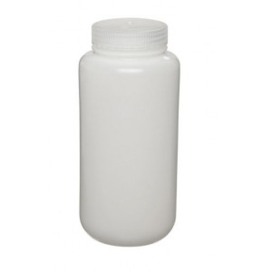 1000mL Fluorinated Wide Mouth HDPE Bottle, 63mm HDPE Screw Thread Closure (24/cs)