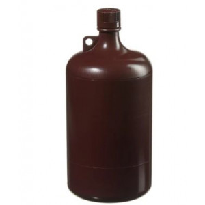 4L Large Narrow Mouth Amber Bottle, 38-430 Amber PP Screw Thread Closure (6/cs)