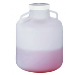20L Wide Mouth Autoclavable PP Carboy, Handles, 100-415 PP Screw Thread Closure (4/cs)