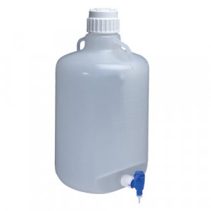20L Autoclavable PP Carboy, Spigot, 83B Screw Thread Closure (4/cs)