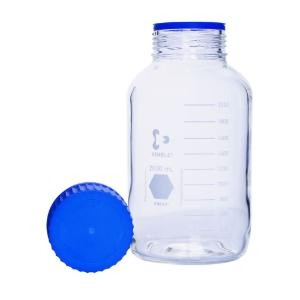 KIMBLE® GLS 80  Media Bottle 3.3 Borosilicate, KIMCOTE, w/ screw cap & pour ring (PP) 5000 mL (1cs)