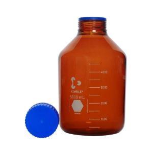 KIMBLE® GLS 80  Bottle, Media 3.3 Borosilicate, WN, amber, w/ screw cap & pour ring (PP) 10000ml (1cs)