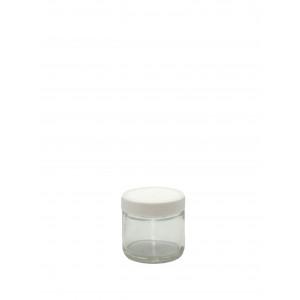 2oz Clear Straight Sided Jar Assembled w/53-400 F-217 Lined Cap (24/cs)