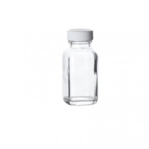 2oz Clear French Square Assembled w/28-400 PTFE Lined Cap (240/cs)