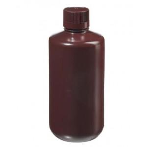 1000mL Narrow Mouth Opaque Amber HDPE Bottle, 38-430 Amber PP Screw Thread Closure {Packaging Grade} (50/cs)