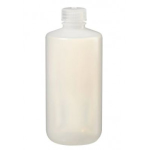 500mL Narrow Mouth LDPE Bottle, 28-415 PP Screw Thread Closure {Packaging Grade} (125/cs)