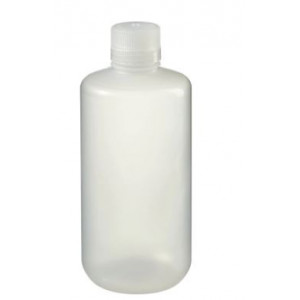 1000mL Narrow Mouth LDPE Bottle, 38-430 PP Screw Thread Closure {Packaging Grade} (50/cs)