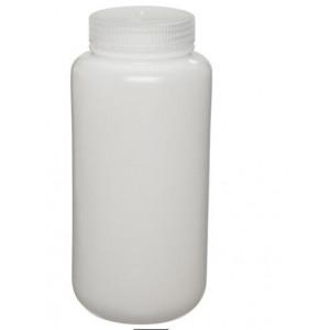500mL Wide Mouth HDPE Bottle, 53-415 PP Screw Thread Closure {Lab Grade} (125/cs)