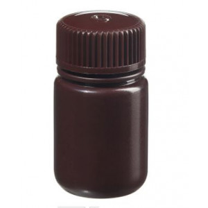 30mL Wide Mouth Opaque Amber HDPE Bottle, 28-415 Amber PP Screw Thread Closure {Packaging Grade} (1000/cs)