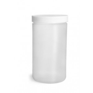 32oz Natural HDPE Straight Sided Jar Assembled w/89-400 F-217 Lined Cap, Certified (108/cs)