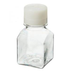 125mL Square PETG Sterile Media Bottle, 38-430 HDPE Screw Thread Closure (96/cs)